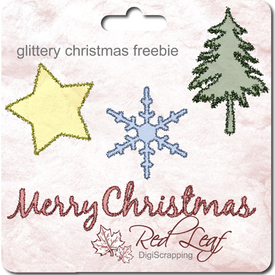 Glittery ChristmasFreebie