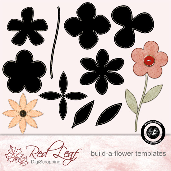 Build a Flower Template Pack