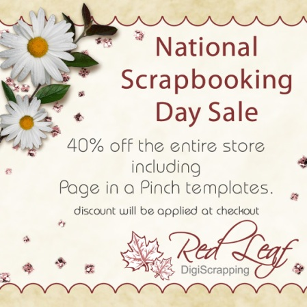 National Scrapbooking Day Sale
